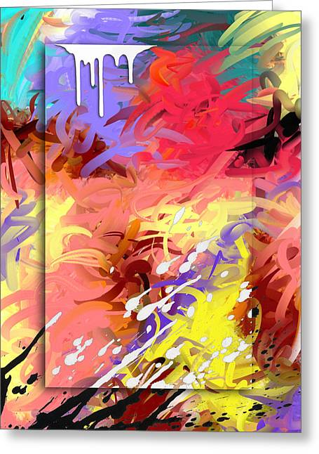 Abstract Expression Greeting Cards - Happiness Greeting Card by Snake Jagger