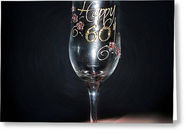 Happy 60th Birthday Greeting Card by Kaye Menner