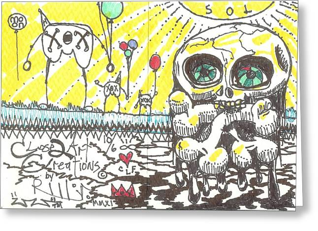 Raw Drawings Greeting Cards - Happy Belated Birthday Greeting Card by Robert Wolverton Jr