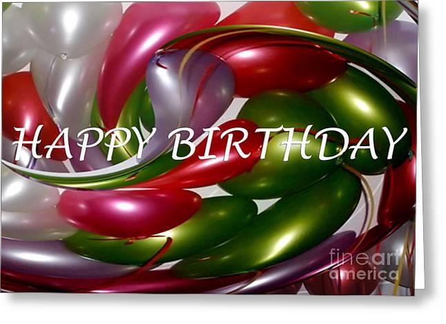 Happy Birthday - Balloons Greeting Card by Kaye Menner