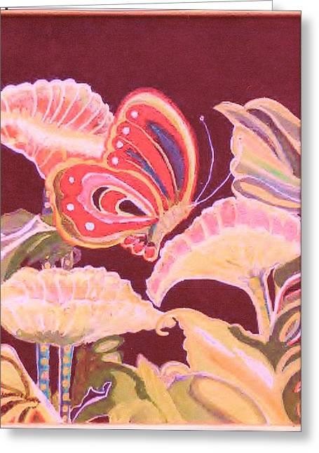 Happy Butterfly Greeting Card by Anne-Elizabeth Whiteway