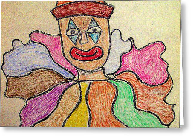 Happy Clown Greeting Card by Robyn Louisell