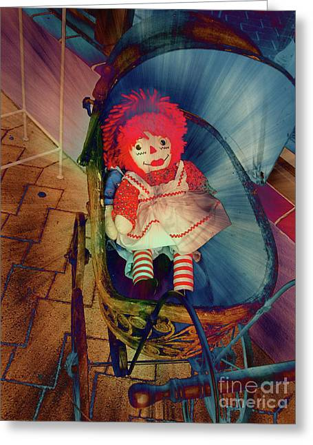 Antic Greeting Cards - Happy Dolly Greeting Card by Susanne Van Hulst