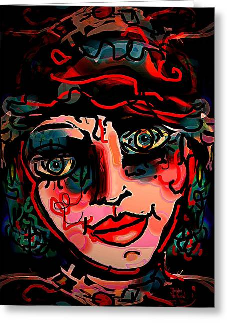 Disposition Mixed Media Greeting Cards - Happy Girl Greeting Card by Natalie Holland