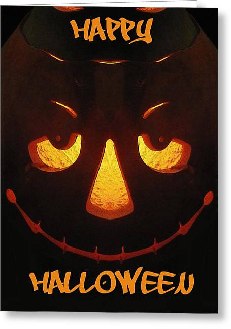 Hallows Eve Greeting Cards - Happy Halloween Greeting Card by Tim Allen