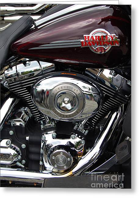 Happy Hog Greeting Cards - Happy Harley Greeting Card by Diane E Berry