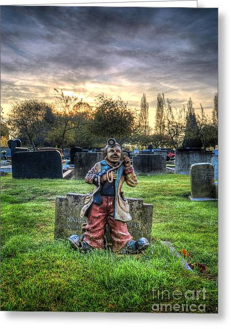 Headstones Greeting Cards - Happy Headstone Greeting Card by Yhun Suarez