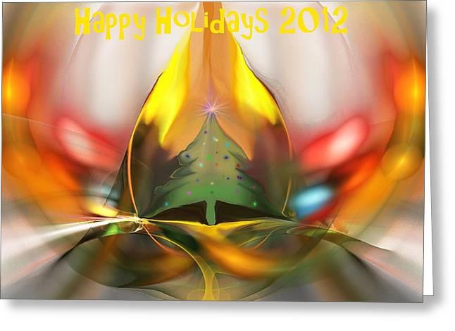 Happy Holidays 2012 Greeting Card by David Lane