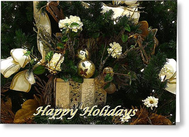 Christmas Art Greeting Cards - Happy Holidays II Greeting Card by Sandy Keeton