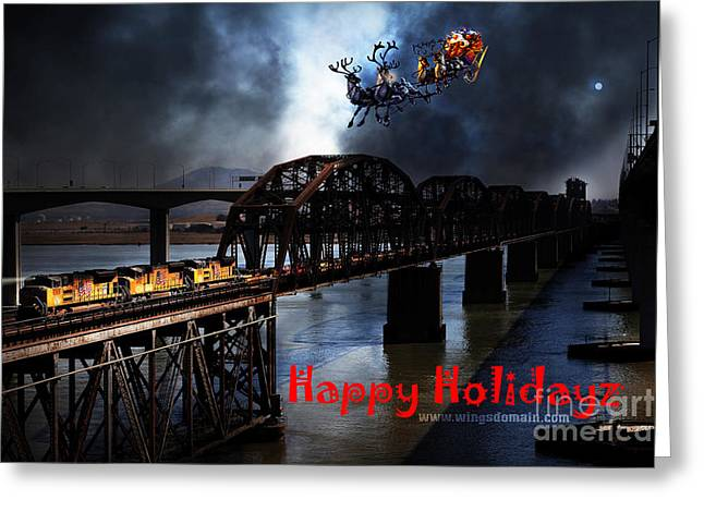 Benicia Greeting Cards - Happy Holidays - Once Upon A Time In The Story Book Town of Benicia California - 5D18849 Greeting Card by Wingsdomain Art and Photography