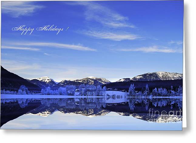 Happy Holidays Greeting Card by Sabine Jacobs