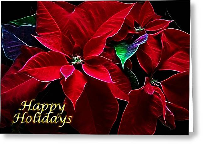 Christmas Art Greeting Cards - Happy Holidays Greeting Card by Sandy Keeton