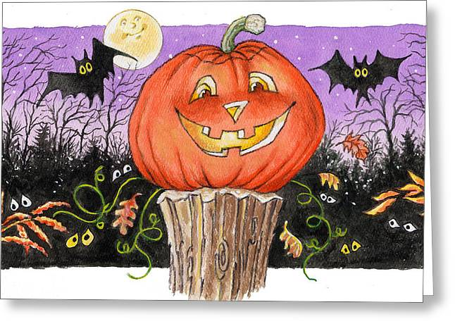 Halloween Greeting Cards - Happy Jack Greeting Card by Richard De Wolfe
