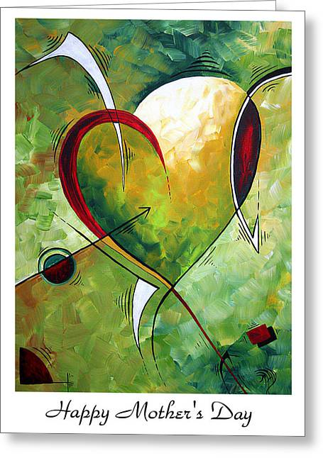 Nana Greeting Cards - Happy Mothers Day by MADART Greeting Card by Megan Duncanson