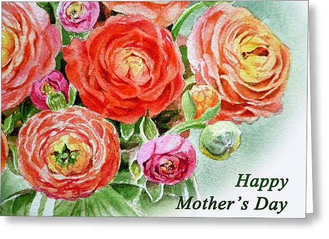 Happy Mothers Day Card Greeting Card by Irina Sztukowski