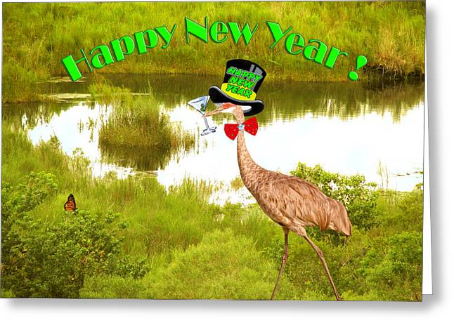 New Year Greeting Cards - Happy New Year Card Greeting Card by Adele Moscaritolo