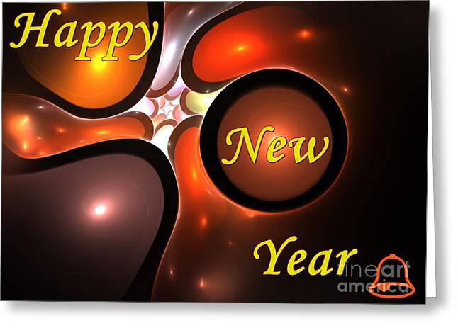 Party Invite Greeting Cards - Happy New Year Greeting Card by Stefan Kuhn