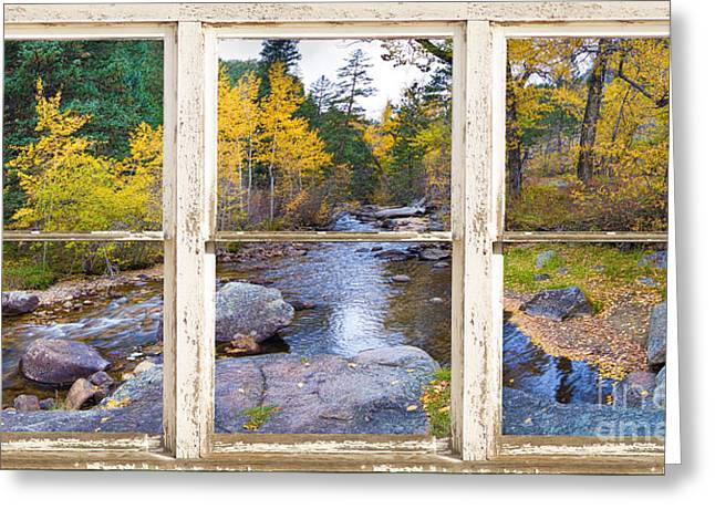 Framed Photos Greeting Cards - Happy Place Picture Window Frame Photo Fine Art Greeting Card by James BO  Insogna