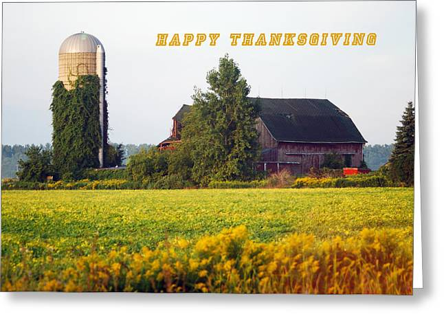 Give Thanks Greeting Cards - Happy Thanksgiving Greeting Card by Michael Peychich