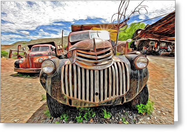 Old Truck Photography Greeting Cards - Happy Truck Greeting Card by James Steele