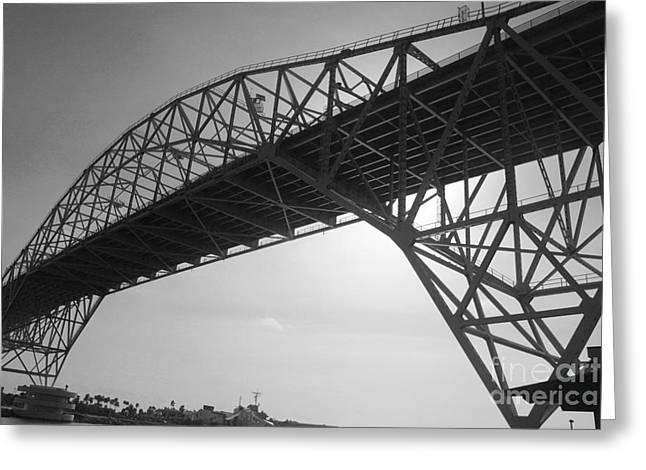 American Bridge Company Greeting Cards - Harbor Bridge Greeting Card by Anissia Hedrick