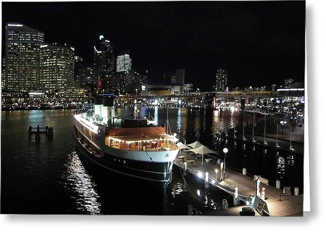 Darling Photographs Greeting Cards - Harbor Lights Greeting Card by Douglas Barnard