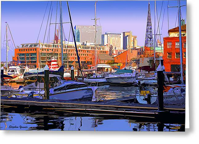 Harbor Morn Greeting Card by Stephen Younts