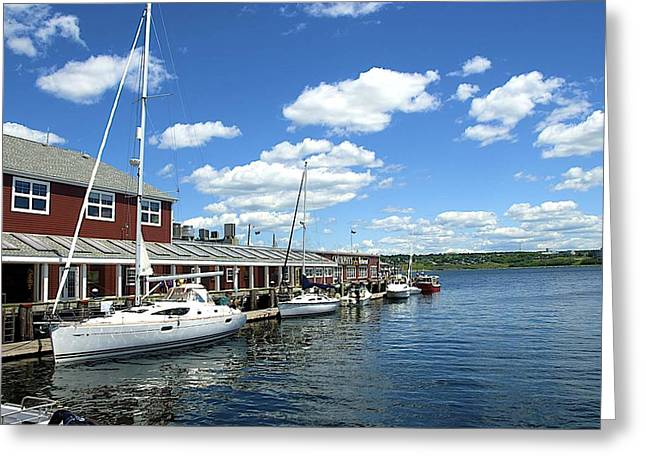Boats In Harbor Greeting Cards - Harbor   Greeting Card by Ralph Jones