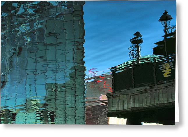 Inner Reflections Greeting Cards - Harbor Reflections I Greeting Card by Steven Ainsworth