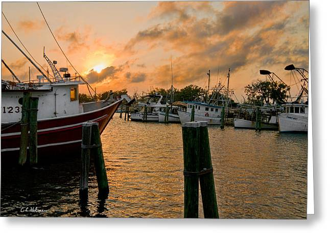 Christopher Holmes Greeting Cards - Harbor Sunset Greeting Card by Christopher Holmes