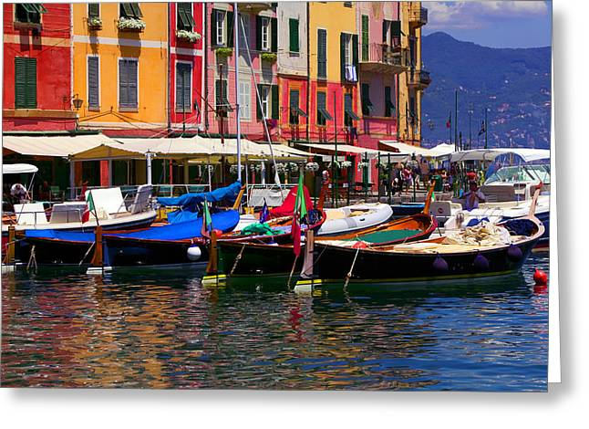 Portofino Italy Greeting Cards - Harbour Greeting Card by John Galbo