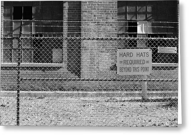 Hard Hats Greeting Cards - Hard Hats Required Greeting Card by Troy Montemayor