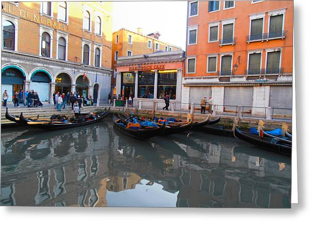 Hard Rock Cafe Greeting Cards - Hard Rock Cafe Venice Greeting Card by Bill Cannon
