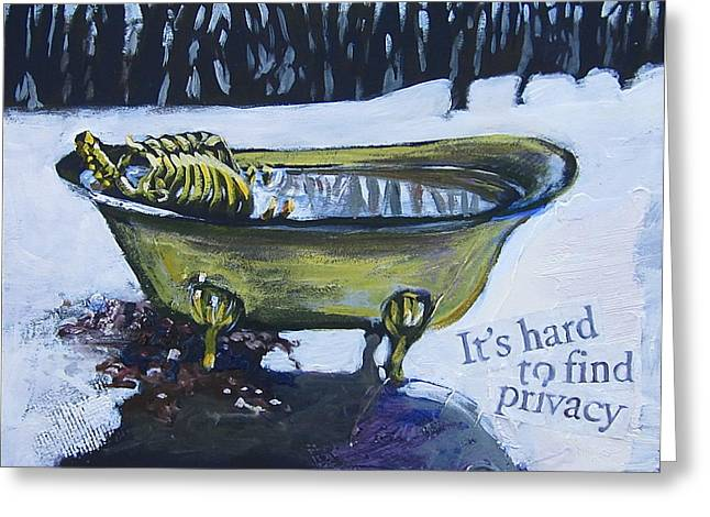 Hard to find privacy Greeting Card by Tilly Strauss