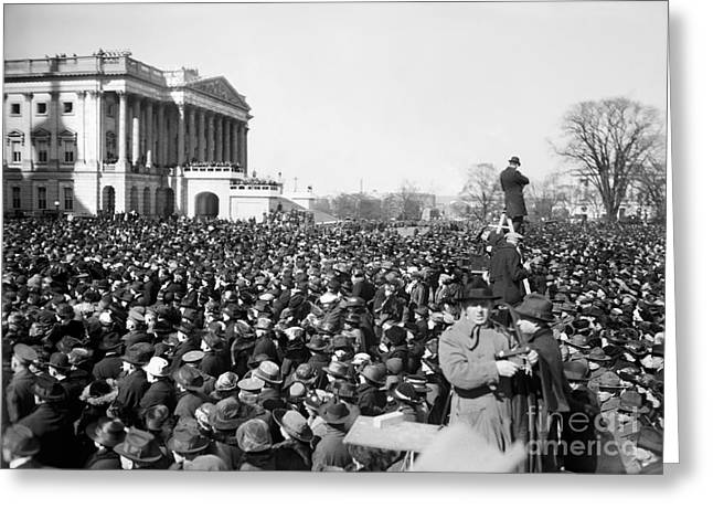 Inauguration Greeting Cards - Harding Inauguration, 1921 Greeting Card by Granger