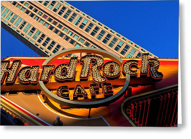 Hard Rock Cafe Greeting Cards - HardRock Greeting Card by William Jones