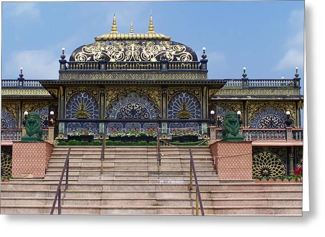 Hare Digital Art Greeting Cards - Hare Krishna shrine Greeting Card by Vijay Sharon Govender