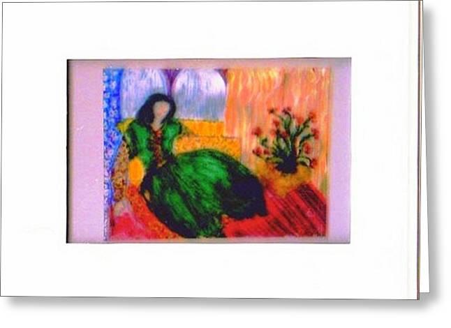 Harem Girl Greeting Card by Duygu Kivanc