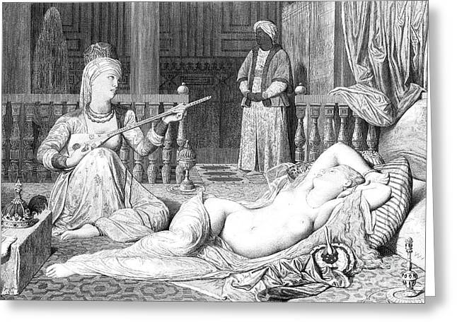 Odalisque Photographs Greeting Cards - Harem Greeting Card by Granger