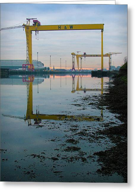 Harland And Wolff Greeting Card by Chris Cardwell