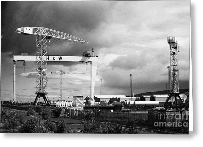 Harland And Wolff Shipyard Belfast Northern Ireland Greeting Card by Joe Fox