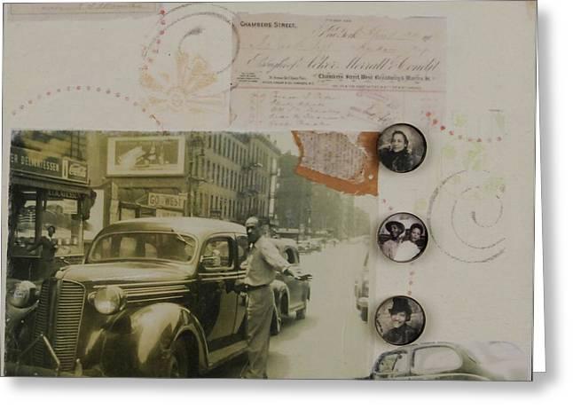 Harlem Mixed Media Greeting Cards - Harlem remembered Greeting Card by Roberta Rose