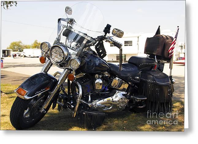 Harley Classic Greeting Card by Elizabeth Chevalier