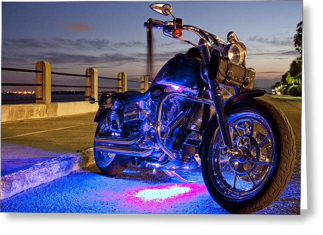 Charleston Greeting Cards - Harley Davidson Motorcycle Greeting Card by Dustin K Ryan