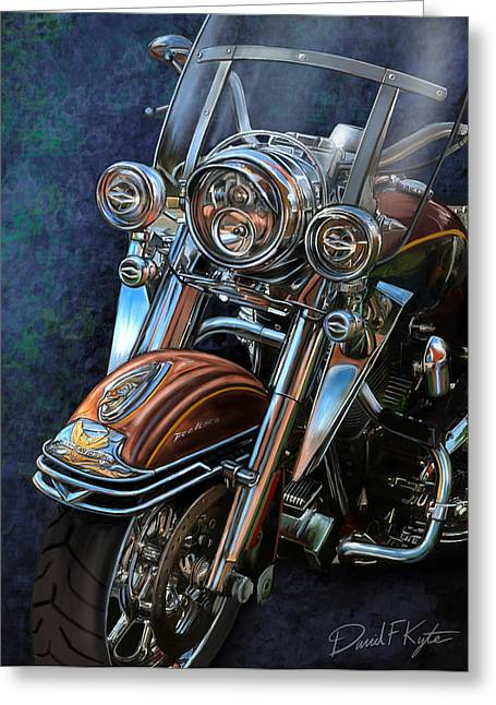 Harley Davidson Ultra Classic Greeting Card by David Kyte