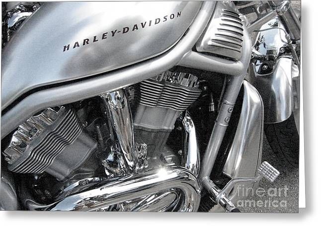 Still Life Greeting Cards - Harley Metal Greeting Card by Judee Stalmack