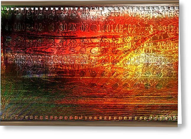Harmonic Distortion Greeting Card by Li   van Saathoff