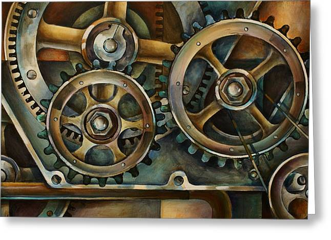 Sprockets Greeting Cards - Harmony 2 Greeting Card by Michael Lang