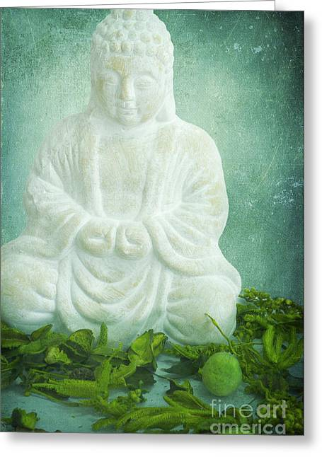 Buddha Greeting Cards - Harmony Greeting Card by Angela Doelling AD DESIGN Photo and PhotoArt