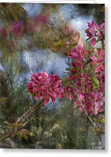 Pink Flower Branch Greeting Cards - Harmony Greeting Card by Bonnie Bruno